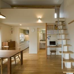 2階ダイニング空間 (2階が生活拠点のシンプルな家)