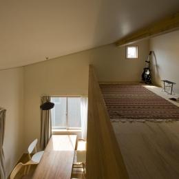 2階が生活拠点のシンプルな家