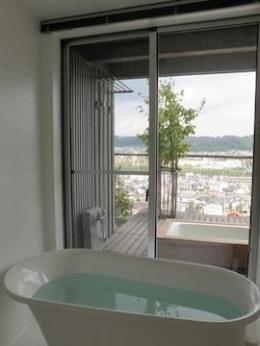 眺望を最大限に楽しむ家 (浴室からの眺望)