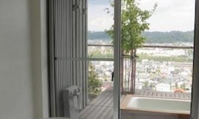 浴室からの眺望|眺望を最大限に楽しむ家