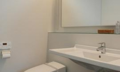 眺望を最大限に楽しむ家 (シンプルなトイレ)