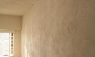 M邸 (日差しが当たると表情が変わる漆喰の壁)