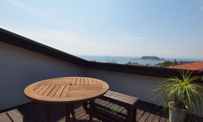 七里ヶ浜の家 (テラス)