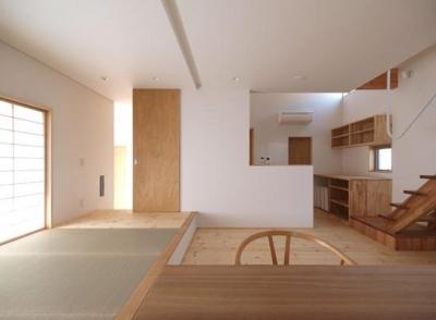 2層ワンルームの家 (1階:ファミリースペース)