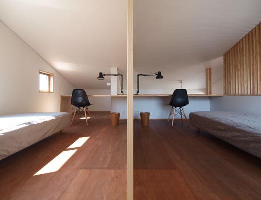 書斎事例:2階:ワークスペース(2層ワンルームの家)