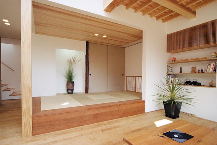 空間と素材でさりげなく遊ぶ暮らしの写真 和室