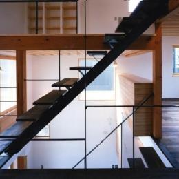 窓の家-オープン型階段