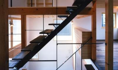 窓の家 (オープン型階段)