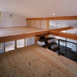 窓の家-広々としたロフト