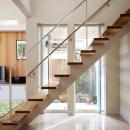 スケルトン階段と光庭