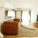 K邸・小さな個室と大きなリビング、心地のよい暮らし方