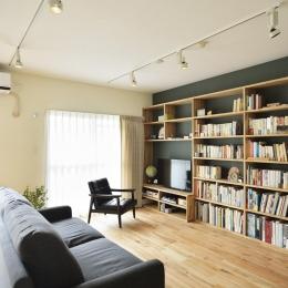 リビング-テレビボード兼壁面収納