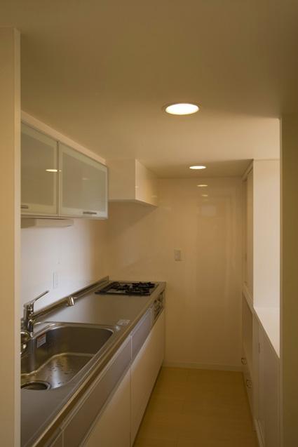 ライトコートの家の部屋 シンプルなキッチン