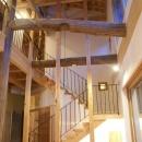 高い天井へと続く階段