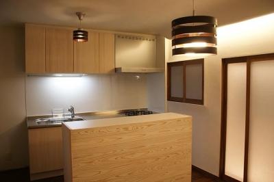 キッチンと個室をリフォーム2 (みはまのいえ)