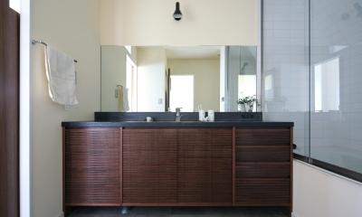 Y邸 (落ち着きのたたずまいの洗面台)