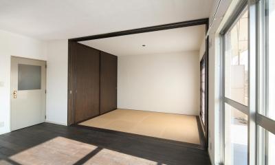 S邸 (琉球畳のモダンな和室)