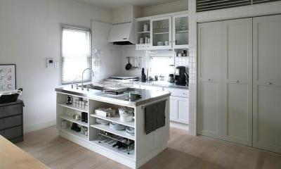 お気に入りのアイランド型キッチン|M邸