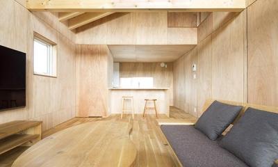 当別の家 シンプルな北国の住まい|新築 (リビングダイニングキッチン)