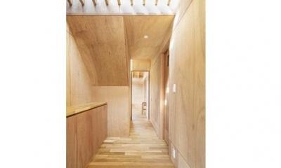当別の家 シンプルな北国の住まい|新築 (ナチュラルな玄関)