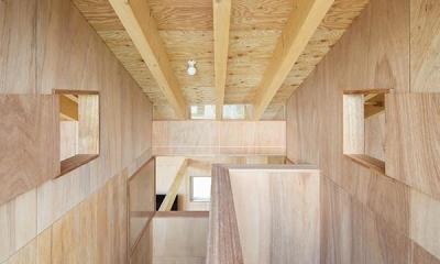当別の家 シンプルな北国の住まい|新築 (窓と窓でつながる空間)