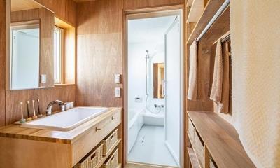 当別の家 シンプルな北国の住まい|新築 (洗面所とバスルーム)