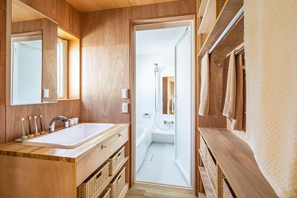 当別の家の部屋 洗面所とバスルーム