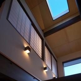 日光の家 (吹き抜けと天窓)