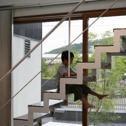 大平の家 (オープン型階段)