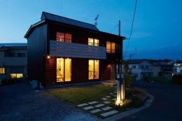 土浦の家3 (外観ライトアップ)