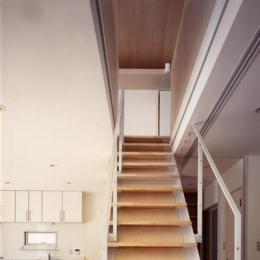 K邸 「のびしろ」を持つ住宅 (ウッディな階段)