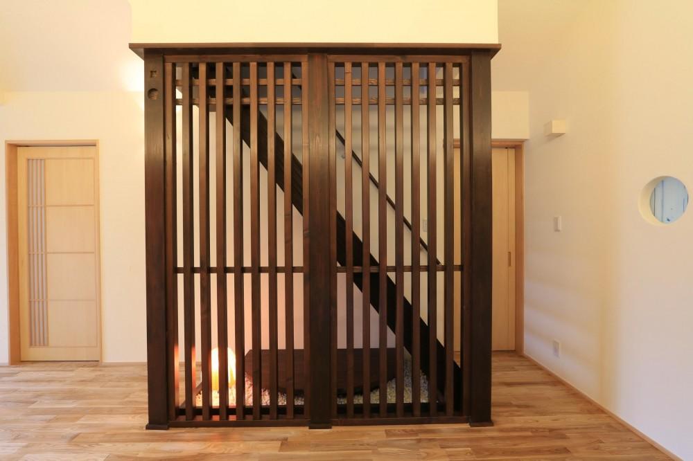 耐震補強&自然素材でリノベーション (玄関ホール)