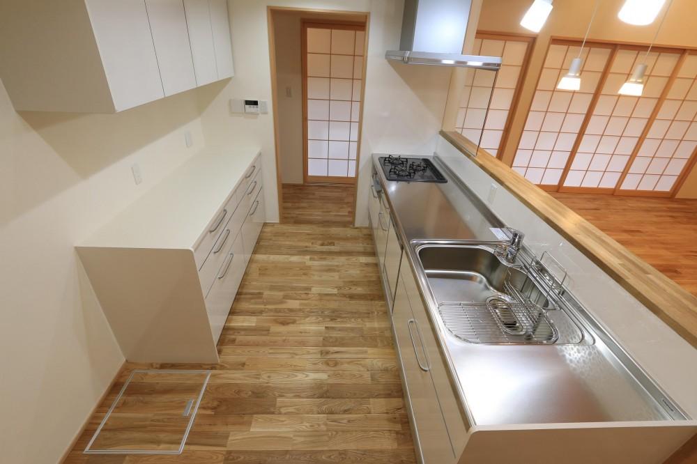 耐震補強&自然素材でリノベーション (キッチン)