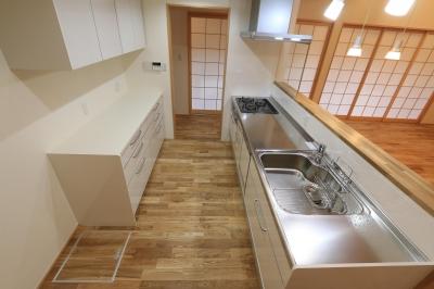 キッチン (耐震補強&自然素材でリノベーション)