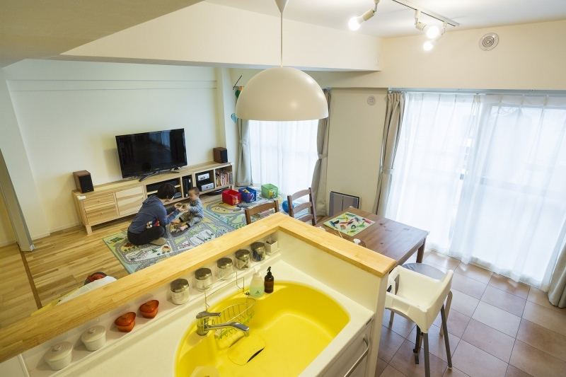 No.91 30代/3人暮らしの部屋 キッチン