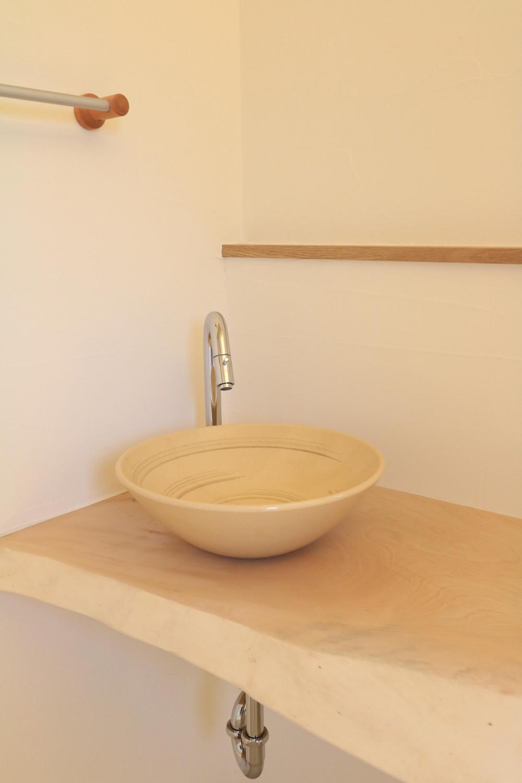 耐震補強&自然素材でリノベーション (造作手洗い)
