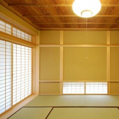 古き記憶を大切に、古材を利用した和空間 (浮づくりの杉板を使った和室3)
