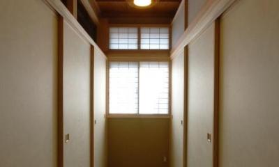 古き記憶を大切に、古材を利用した和空間 (浮づくりの杉板を使った和室5)