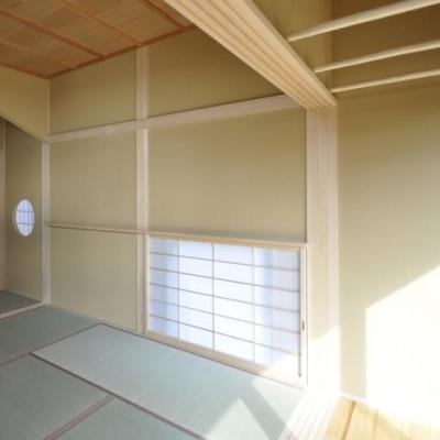 光を多く取り入れた和空間3 (土間と光の和の時間、回遊性のある和空間)