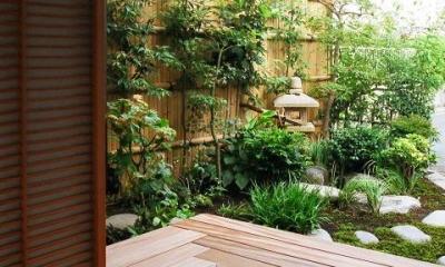 茶室からの風景|究極の終の棲家ちいさな茶室 かすかな光を楽しむ時間