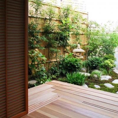究極の終の棲家ちいさな茶室 かすかな光を楽しむ時間 (茶室からの風景)