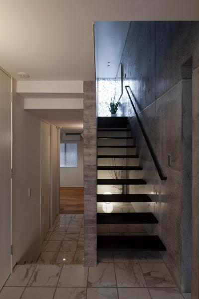 松原の家 (玄関ホール)