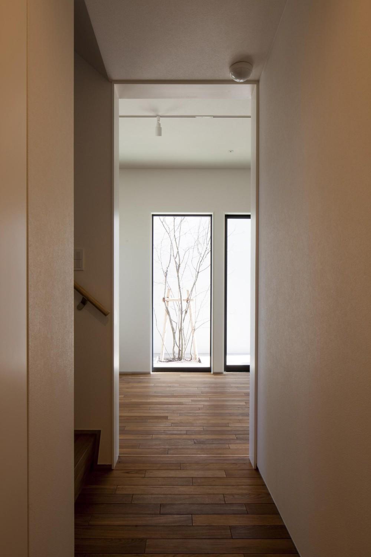 深沢の家 (廊下)