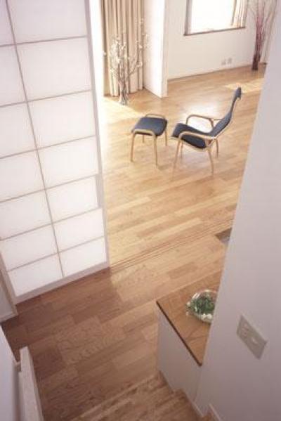 階段~玄関ホール・LD (寛の家62)