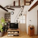 T邸・家族のくらしをより楽しく豊かにするとっておきの家の写真 ロフトにつながる階段