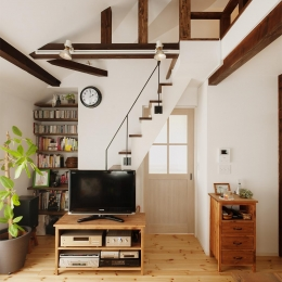 T邸・家族のくらしをより楽しく豊かにするとっておきの家 (ロフトにつながる階段)