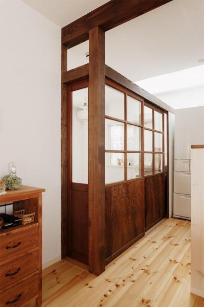 施主お気に入りの建具を再利用 (T邸・家族のくらしをより楽しく豊かにするとっておきの家)