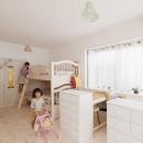 T邸・家族のくらしをより楽しく豊かにするとっておきの家の写真 白で統一された子供部屋