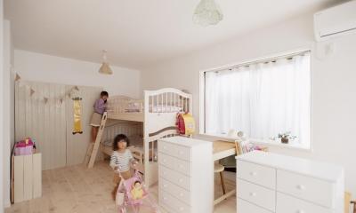 白で統一された子供部屋|T邸・家族のくらしをより楽しく豊かにするとっておきの家