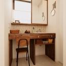 T邸・家族のくらしをより楽しく豊かにするとっておきの家の写真 こだわりの洗面室